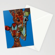 giraffe love blue Stationery Cards