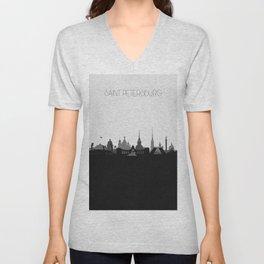 City Skylines: Saint Petersburg Unisex V-Neck