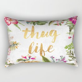 Thug Life - white version Rectangular Pillow