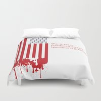 """1984 Duvet Covers featuring """"Today's Oceania"""" Inspired by George Orwell's 1984 by Intricate Conspiracy"""
