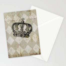 Vintage Distressed Grunge Crown Stationery Cards