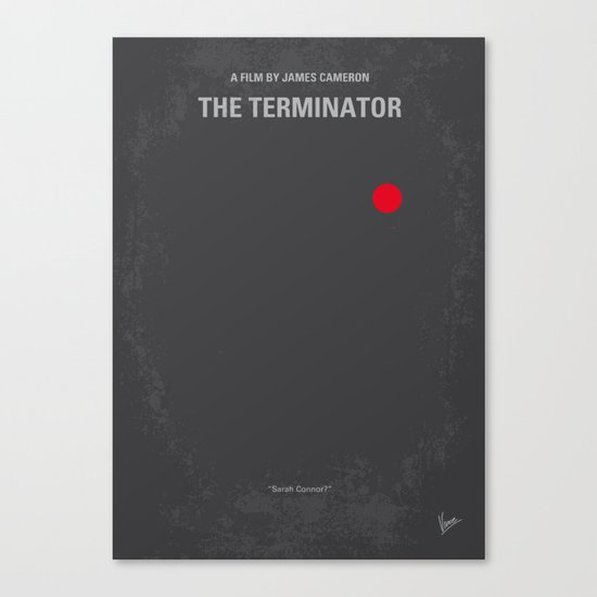 No199 My Terminator minimal movie poster Canvas Print