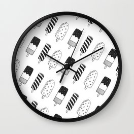 Summer Ice Lollies Wall Clock