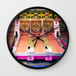 Skee Ball Blurry Photo Wall Clock