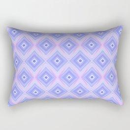 Triple Blue Square Rectangular Pillow