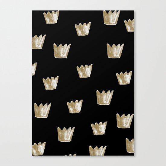 Crown Pattern Canvas Print