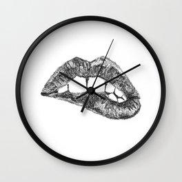 Lips Wall Clock