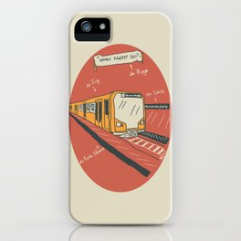 U-BAHN iPhone Case
