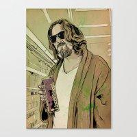 lebowski Canvas Prints featuring Dude Lebowski by Giuseppe Cristiano