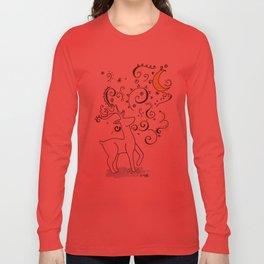 Deer Design Long Sleeve T-shirt