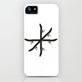 Skateboard Circle Illustration iPhone Case
