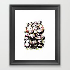 Wild Family Series - Afternoon Tea Panda Framed Art Print