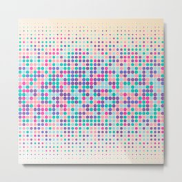 Colorful geometric pattern with dots Metal Print