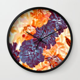 Red  Shadows Wall Clock