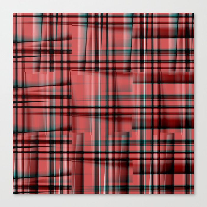Pattern red 1 Canvas Print