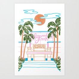 Hollywood Park Casino Art Print