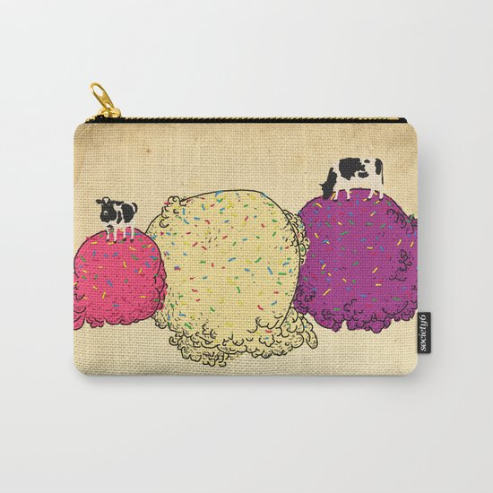 Cows love ice cream Carry-All Pouch