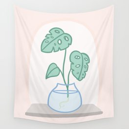 Monstera on the Sill Wall Tapestry