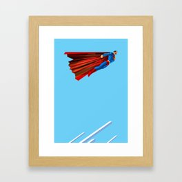 Man Up (blue steel variant) Framed Art Print