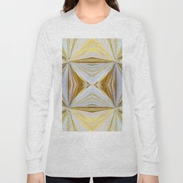 350 - Abstract Palm Fronds Design Long Sleeve T-shirt