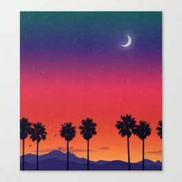 Once Golden Canvas Print