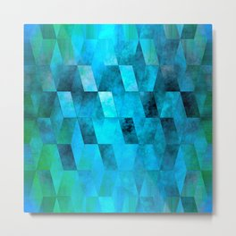 Stacked Sky (blue) Metal Print