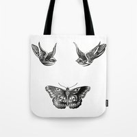 tattoos Tote Bags featuring Tattoos by Hoeroine
