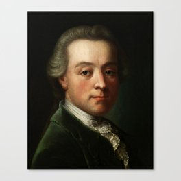 Wolfgang Amadeus Mozart (1756 -1791) portrait Canvas Print
