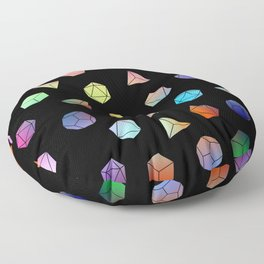 Platonic solids II Floor Pillow