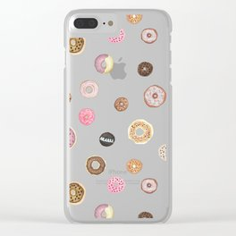 DONUT LOVE Clear iPhone Case
