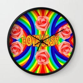 Love Easy Wall Clock