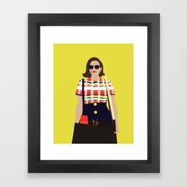 Peggy Olson Mad Men Framed Art Print