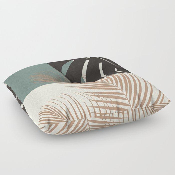 Minimal Monstera Palm Finesse #1 #tropical #decor #art #society6 Floor Pillow