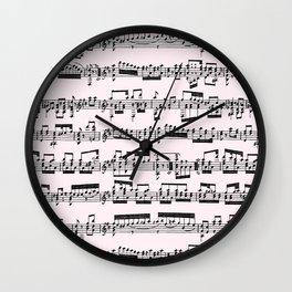 Sheet Music // Lavender Blush Wall Clock