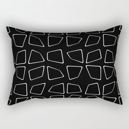 Changing Perspective - Simplistic Black and white Rectangular Pillow