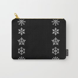 Five Different Snowflakes in a Row on a Black Background Carry-All Pouch