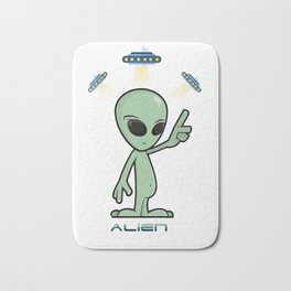 Why We Love Aliens/ Aliens t-shirt / aliens shirt / girls boys t-shirt aliens / Are aliens ignoring Bath Mat