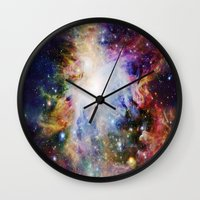 nebula Wall Clocks featuring NEBulA by 2sweet4words Designs