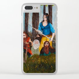 Snow-White and the Seven Dwarves Clear iPhone Case