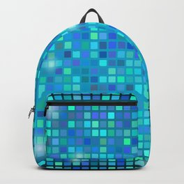 Abstract blue mosaic pattern Backpack