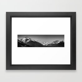 Geese over the Tasman Valley Framed Art Print