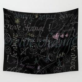 On the blackboard Wall Tapestry