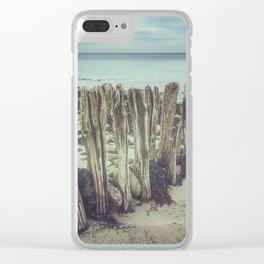 Walrus teeth still standing Clear iPhone Case