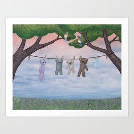 meadow fresh teddy bears Art Print