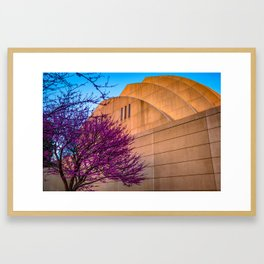 Kauffman Performing Arts Center Architecture in Spring at Sunset - Kansas City Framed Art Print
