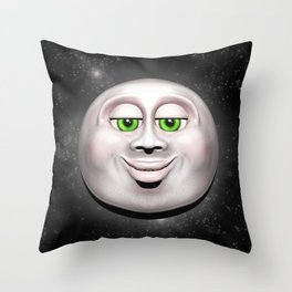 Full Moon Smiling Face 3D  Throw Pillow