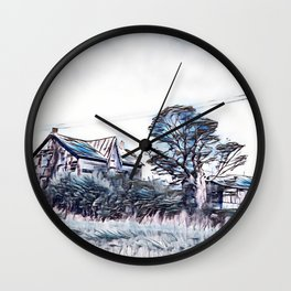Old Abandoned Farm Wall Clock