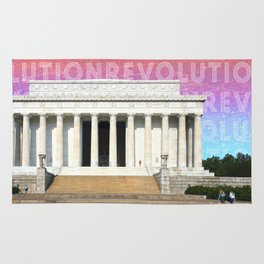 Revolutions - Lincoln Memorial  Rug