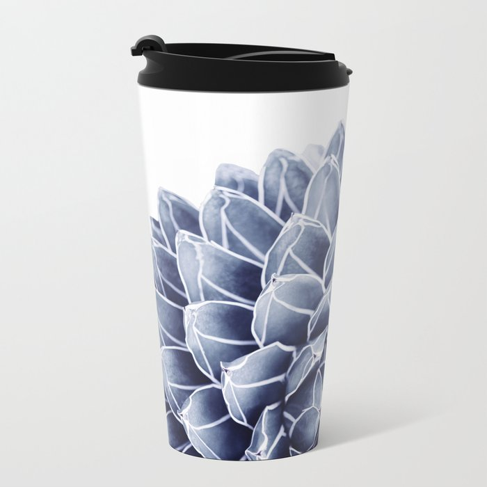 Succulent splendour - chambray Metal Travel Mug