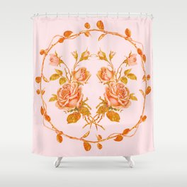 Garland and vintage roses Shower Curtain